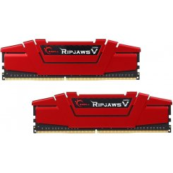 Фото ОЗУ G.Skill DDR4 8GB (2x4GB) 2400Mhz Ripjaws V Red (F4-2400C15D-8GVR)