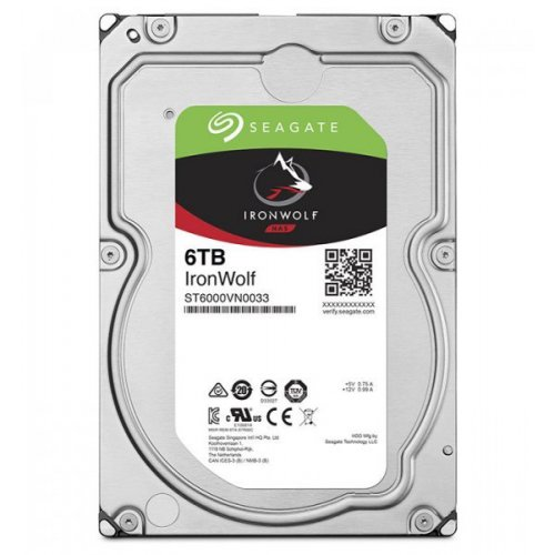 Фото Жесткий диск Seagate IronWolf 6TB 256MB 7200RPM 3.5'' (ST6000VN0033)