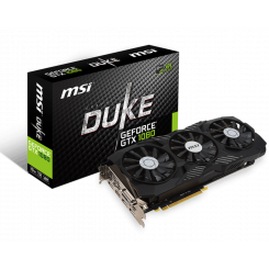 Фото Видеокарта MSI GeForce GTX 1080 DUKE OC 8192MB (GTX 1080 DUKE 8G OC)