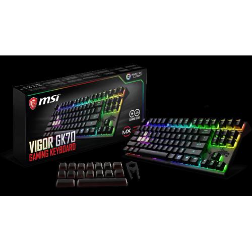 Фото Клавиатура MSI VIGOR GK70 Cherry MX RGB Red