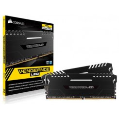 Фото ОЗУ Corsair DDR4 32GB (2x16GB) 3200Mhz Vengeance LED White (CMU32GX4M2C3200C16) Black