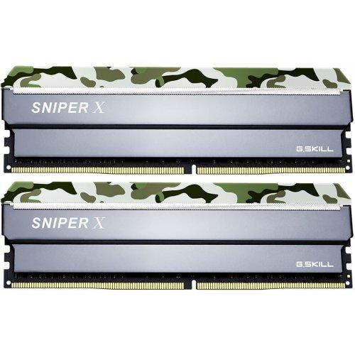 Фото ОЗУ G.Skill DDR4 16GB (2x8GB) 3000Mhz Sniper X Classic Camo (F4-3000C16D-16GSXFB) Black