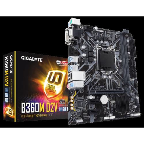 Фото Материнская плата Gigabyte B360M D2V (s1151-V2, Intel B360)