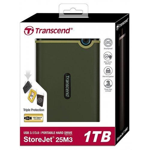 Фото Внешний HDD Transcend StoreJet 25M3G 1TB (TS1TSJ25M3G) Military Green