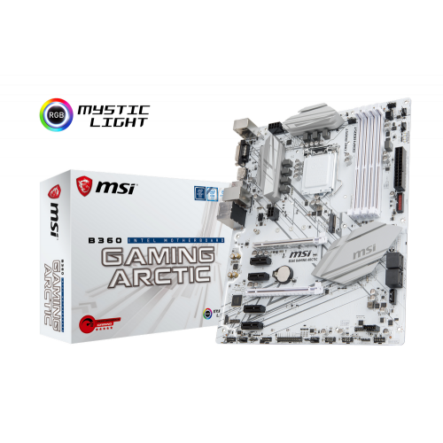 Фото Материнская плата MSI B360 GAMING ARCTIC (s1151-v2, Intel B360)