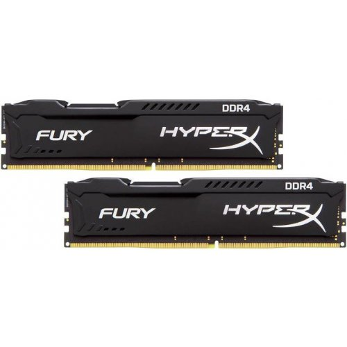 Фото Kingston DDR4 16GB (2x8GB) 3200Mhz HyperX Fury Black (HX432C18FB2K2/16)