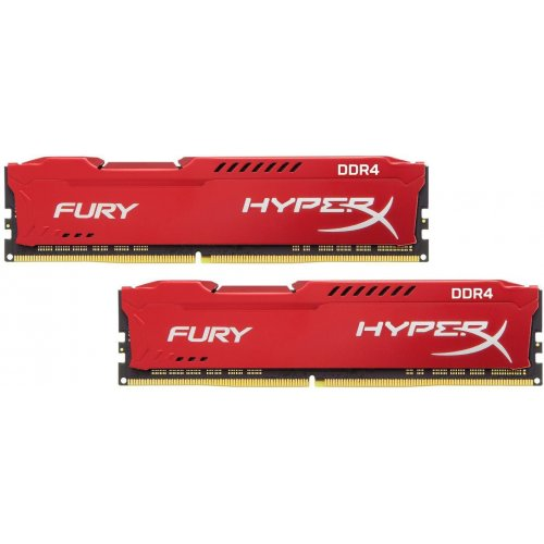 Фото ОЗУ Kingston DDR4 16GB (2x8GB) 3200Mhz HyperX Fury Red (HX432C18FR2K2/16)