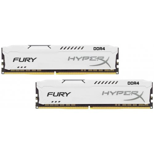Фото ОЗУ Kingston DDR4 16GB (2x8GB) 3200Mhz HyperX Fury White (HX432C18FW2K2/16)