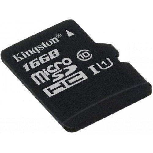Фото Карта памяти Kingston microSDHC 16GB Class 10 UHS-I (без адаптера) (SDCS/16GBSP)
