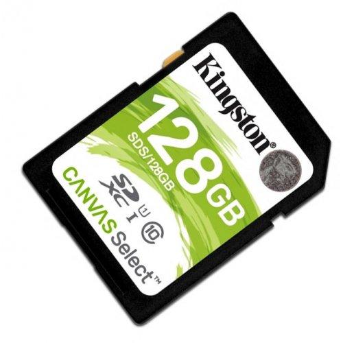 Фото Карта памяти Kingston SDXC 128GB Class 10 UHS-I (без адаптера) (SDS/128GB)