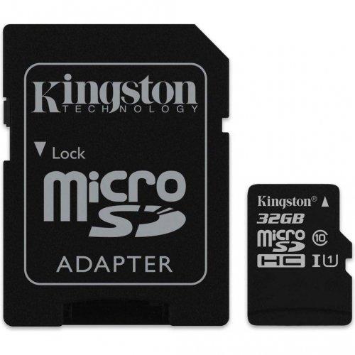 Фото Карта памяти Kingston microSDHC Canvas Select 32GB Class 10 UHS-I (с адаптером) (SDCS/32GB)
