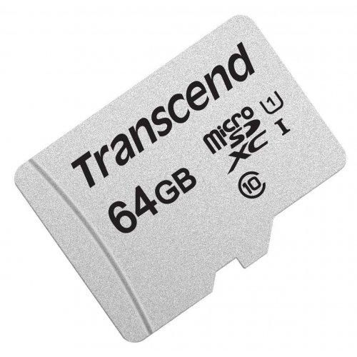 Фото Карта пам'яті Transcend microSDXC 64GB Class 10 UHS-I (без адаптера) (TS64GUSD300S)