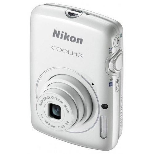 Фото Цифровые фотоаппараты Nikon Coolpix S01 White