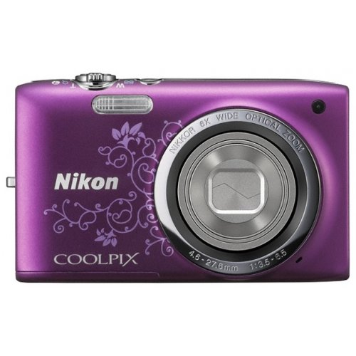 Фото Цифровые фотоаппараты Nikon Coolpix S2700 Purple Lineart