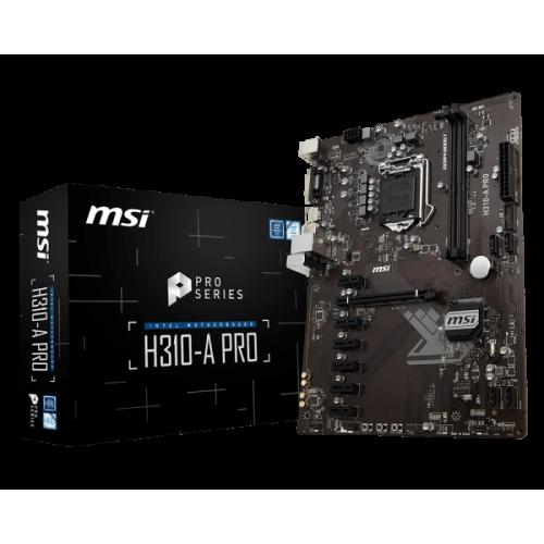 Фото Материнская плата MSI H310-A PRO (s1151-V2, Intel H310)