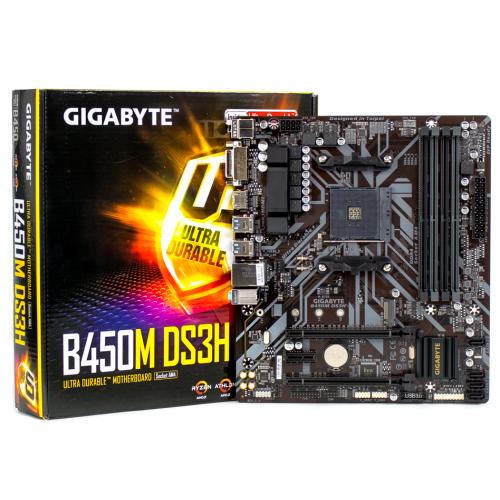 Фото Материнская плата Gigabyte B450M DS3H (sAM4, AMD B450)