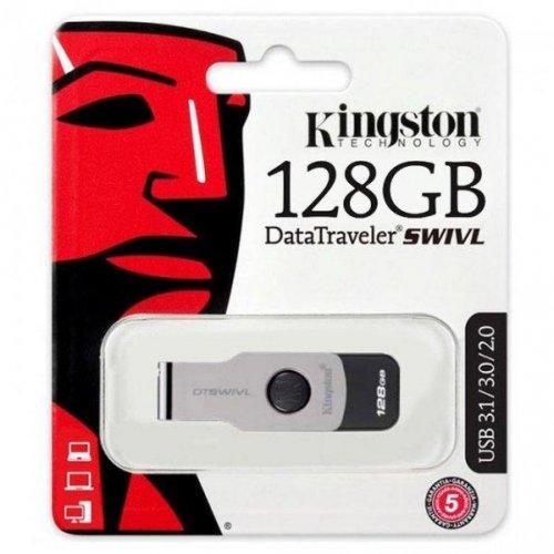 Фото Накопитель Kingston DataTraveler Swivl 128GB USB 3.0 Black (DTSWIVL/128GB)