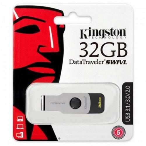 Фото Накопитель Kingston DataTraveler Swivl 32GB USB 3.0 Black (DTSWIVL/32GB)