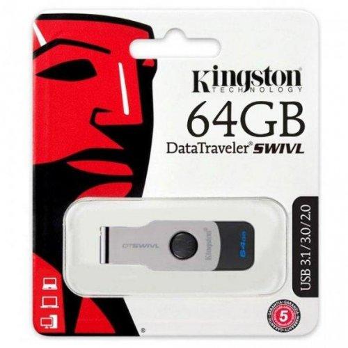 Фото Накопитель Kingston DataTraveler Swivl 64GB USB 3.0 Black (DTSWIVL/64GB)