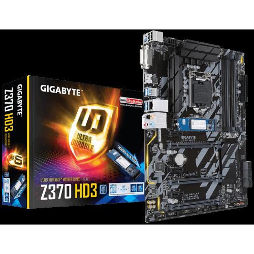 Фото Материнська плата Gigabyte Z370 HD3-OP (s1151-V2, Intel Z370)
