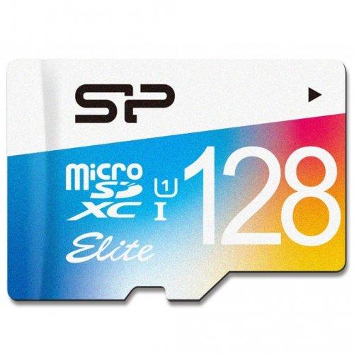 Фото Карта памяти Silicon Power microSDXC 128GB Class 10 UHS-I Elite Color (без адаптера) (SP128GBSTXBU1V20)