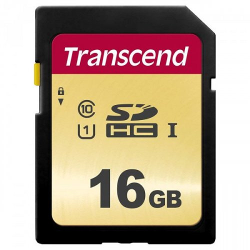 Купить Карты памяти, Transcend SDHC 500S 16GB Class 10 UHS-I (без адаптера) (TS16GSDC500S)