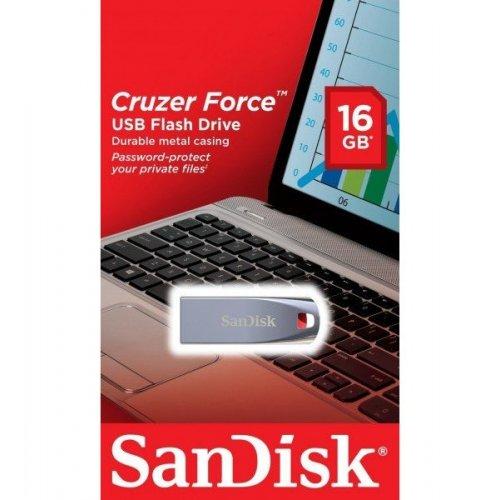 Фото Накопитель SanDisk Cruzer Force 16GB Black (SDCZ71-016G-B35)