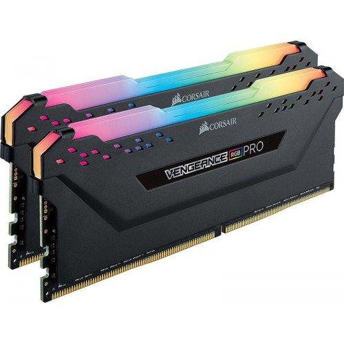 Фото ОЗУ Corsair DDR4 16GB (2x8GB) 3000Mhz RGB PRO (CMW16GX4M2C3000C15) Black
