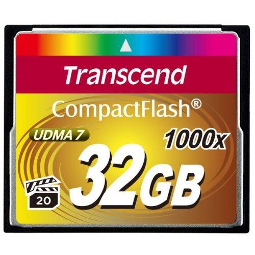 Фото Карта памяти Transcend CF 32GB (1000x) (TS32GCF1000)