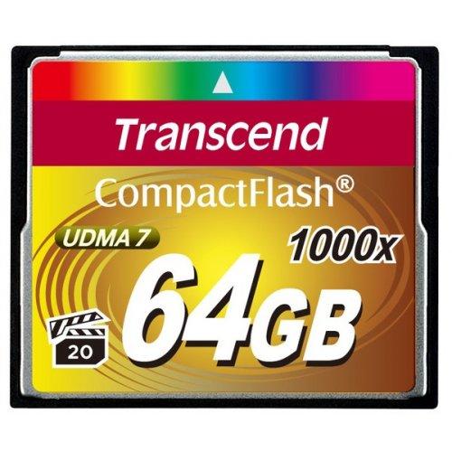 Фото Карта памяти Transcend CF 64GB (1000x) (TS64GCF1000)
