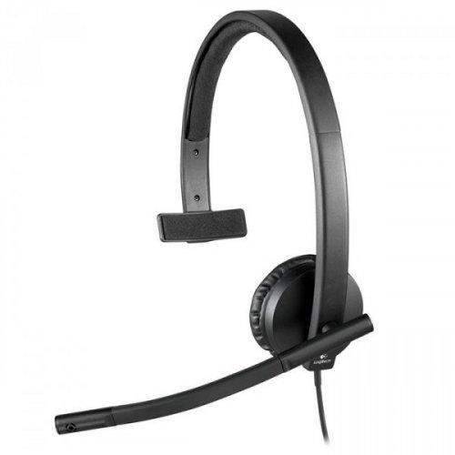 Купить Наушники, Logitech Headset USB H570e (981-000571) Black