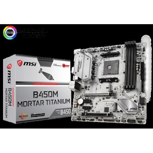Фото Материнская плата MSI B450M MORTAR TITANIUM (sAM4, AMD B450)