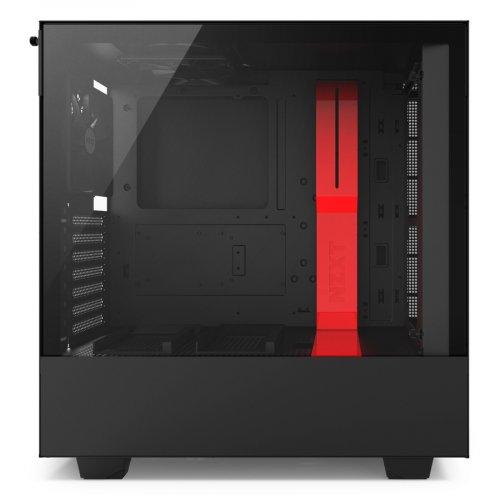Фото NZXT H500 (CA-H500B-BR) Black/Red