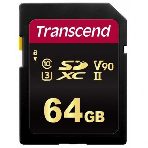 Фото Карта памяти Transcend SDXC 700S MLC 64GB UHS-II U3 R285/W180MB/s Class 10 (TS64GSDC700S)