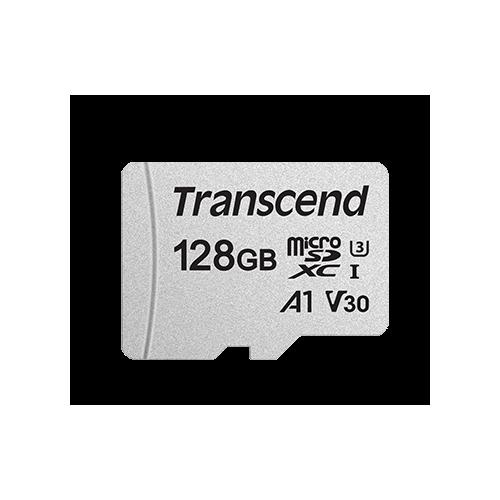 Фото Карта памяти Transcend microSDXC 300S 128GB UHS-I R95/W45MB/s Class 10 (с адаптером) (TS128GUSD300S-A)