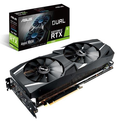Фото Видеокарта Asus GeForce RTX 2080 Dual Advanced edition 8192MB (DUAL-RTX2080-A8G)