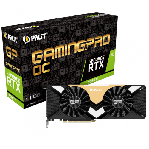 Фото Видеокарта Palit GeForce RTX 2080 Ti Gaming PRO OC 11264MB (NE6208TS20LC-150A)