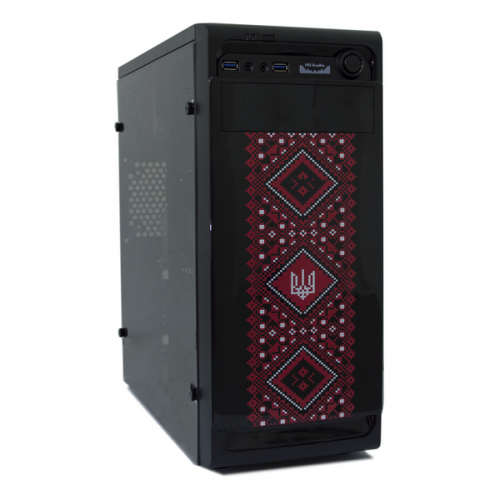 Фото Корпус Frontier PATRIOT 550W (PATRIOT-B21-550 BK/RD) Black/Red