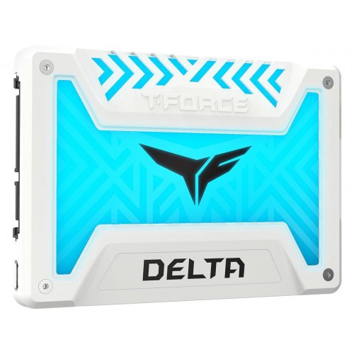 "Фото SSD-диск Team T-Force Delta RGB 3D NAND 250GB 2.5"" (T253TR250G3C413) White"