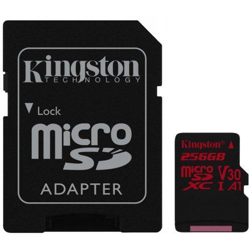Фото Карта памяти Kingston microSDXC Canvas React 256GB UHS-I Class 10 (с адаптером) (SDCR/256GB)