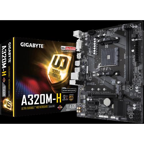 Фото Материнская плата Gigabyte GA-A320M-H (sAM4, AMD A320)
