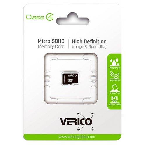Фото Карта памяти Verico microSDHC 8GB Class 4 (1MCOV-MDH683-NN)