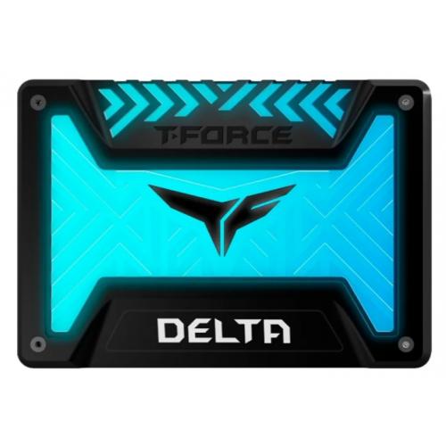 "Фото SSD-диск Team T-Force Delta S RGB 3D NAND TLC 250GB 2.5"" (T253TR250G3C312) Black"
