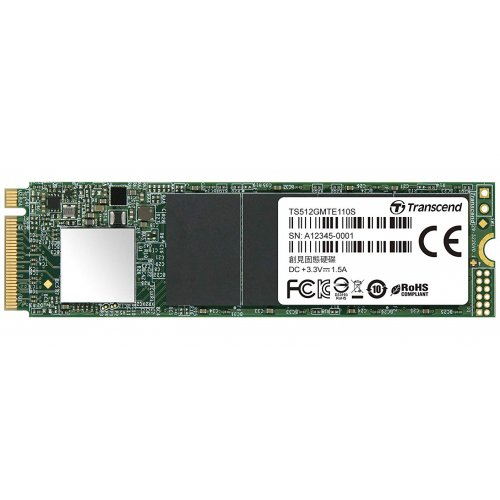 Фото SSD-диск Transcend MTE110S TLC 512GB M.2 (2280 PCI-E) NVMe x4 (TS512GMTE110S)