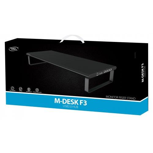 Фото Подставка для ноутбука Deepcool M-DESK F3 USB 2.0 HUB (DP-MS-MDF3-BKD2) Black