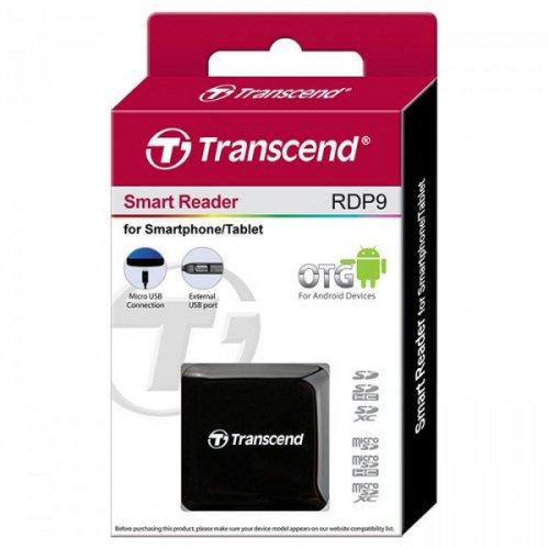 Фото Кардридер Transcend Cardreader OTG micro-USB 2.0 SD/microSD/HC/XC (TS-RDP9K) Black