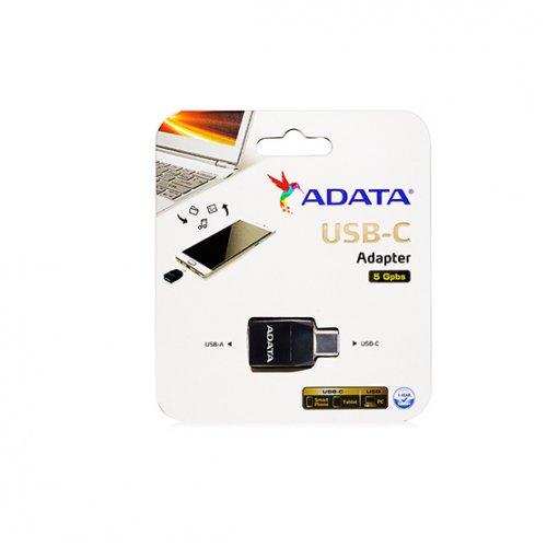 Фото Адаптер-переходник ADATA USB 3.1 TypeA to USB 3.1 TypeC (ACAF3PL-ADP-RBK) Black