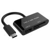 Фото Кардридер Gembird Type-C USB 3.1 USB 2.0 SD/microSD/HC/XC (UHB-CR3-02)