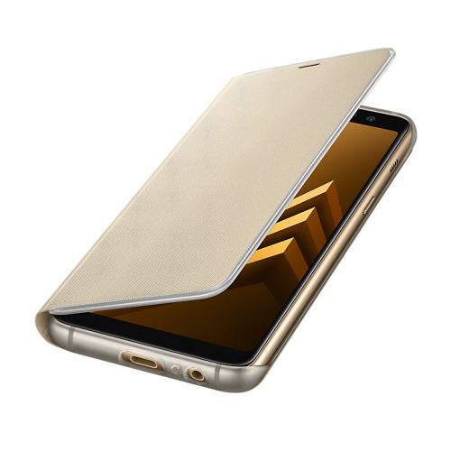 Фото Чехол Samsung для Galaxy A8 2018 (A530) Neon Flip Cover (EF-FA530PFEGRU) Gold