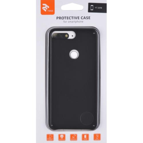 Фото Чехол 2E для Huawei Y7 Prime 2018 PU Case (2E-H-Y7-18-MCPUB) Black